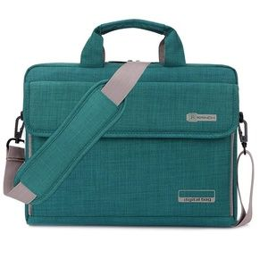"NWT Laptop messenger bag 17.3"" teal green large"